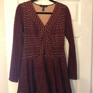 Bcbg MaxAzria long sleeved crochet dress Size S